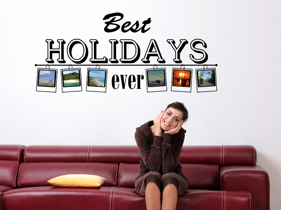 Wandtattoo Fotorahmen Best Holidays ever