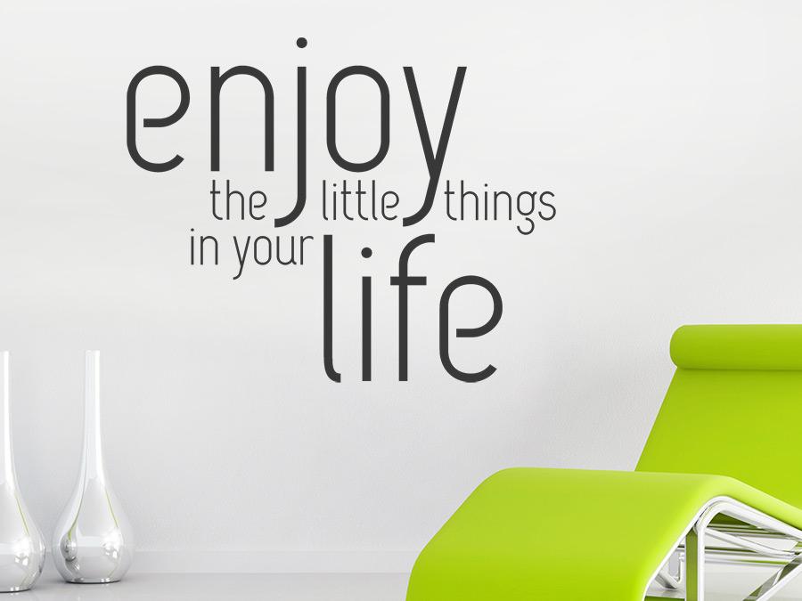 wandtattoo enjoy life spruch von. Black Bedroom Furniture Sets. Home Design Ideas