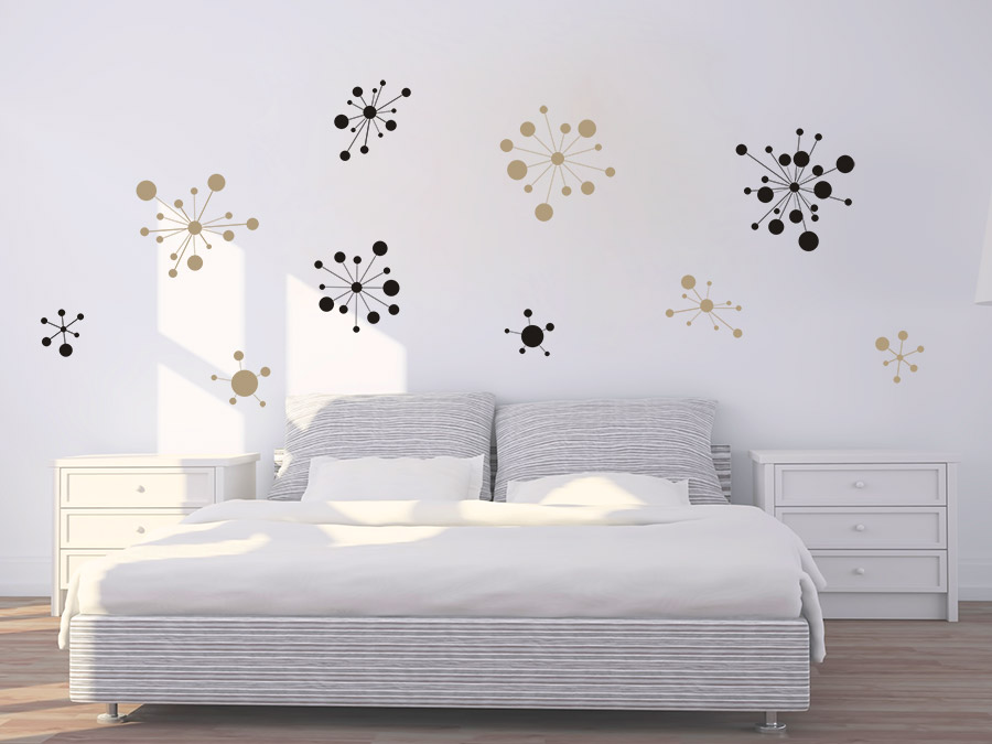 wandtattoo set grafische ornamente von. Black Bedroom Furniture Sets. Home Design Ideas