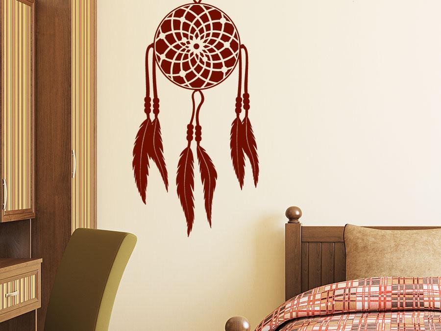 wandtattoo traumf nger mit federn wandtattoo de. Black Bedroom Furniture Sets. Home Design Ideas
