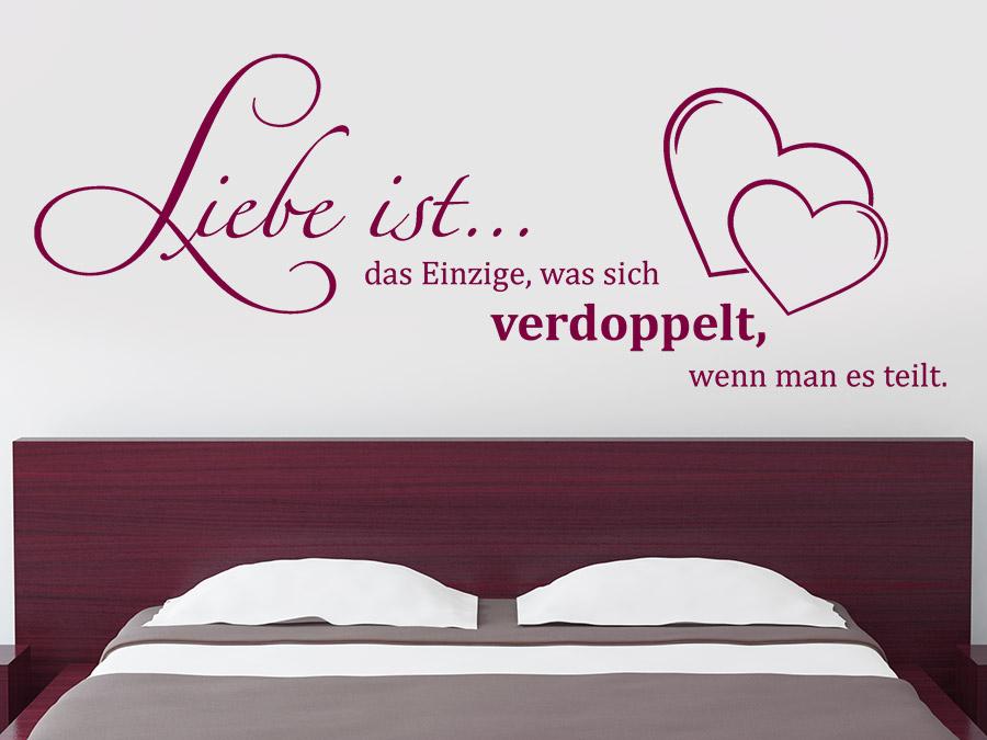 Wandtattoo Liebe ist das Einzige... von Wandtattoo.de
