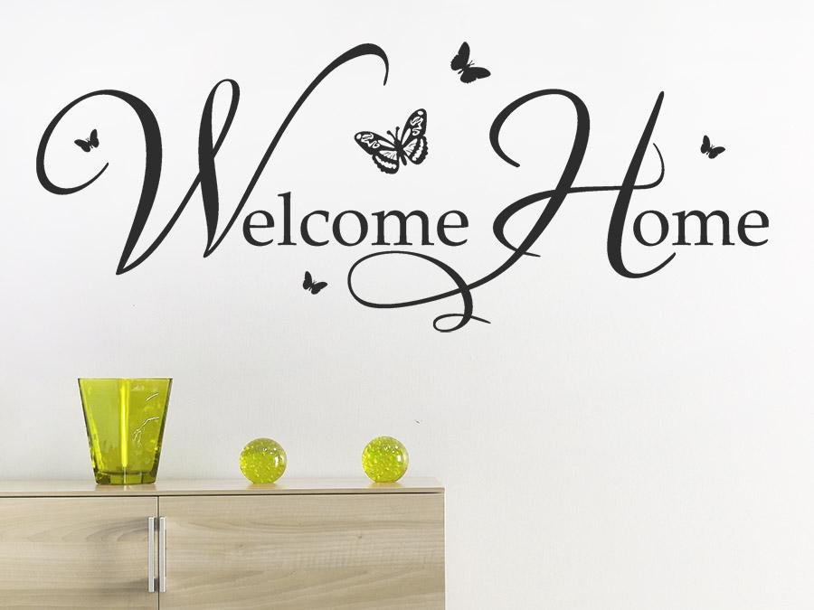 Wandtattoo Home wandtattoo welcome home willkommen wandtattoo de