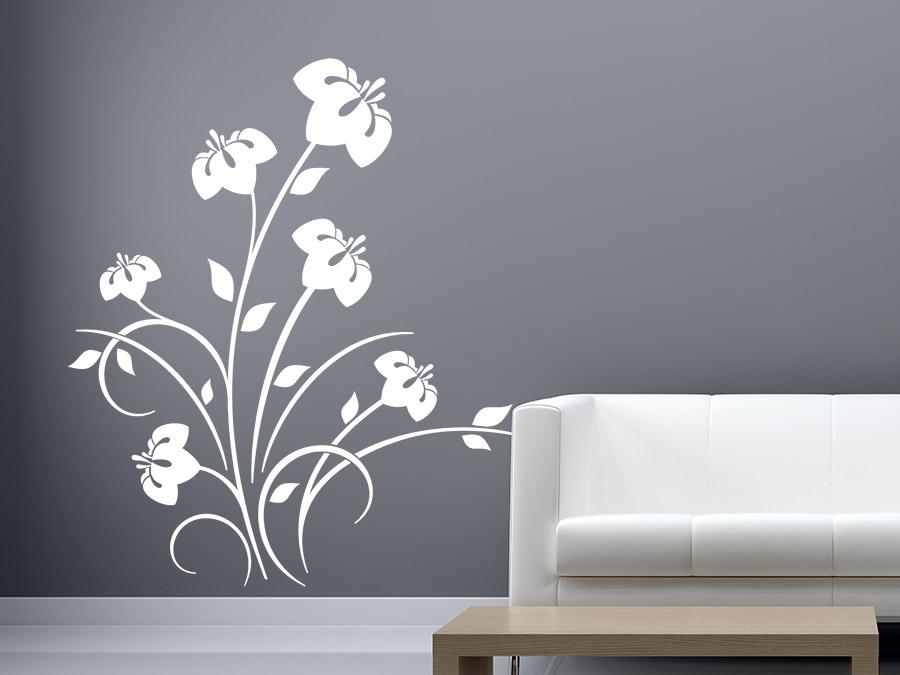 wandtattoo wilder hibiskus wandtattoo de. Black Bedroom Furniture Sets. Home Design Ideas