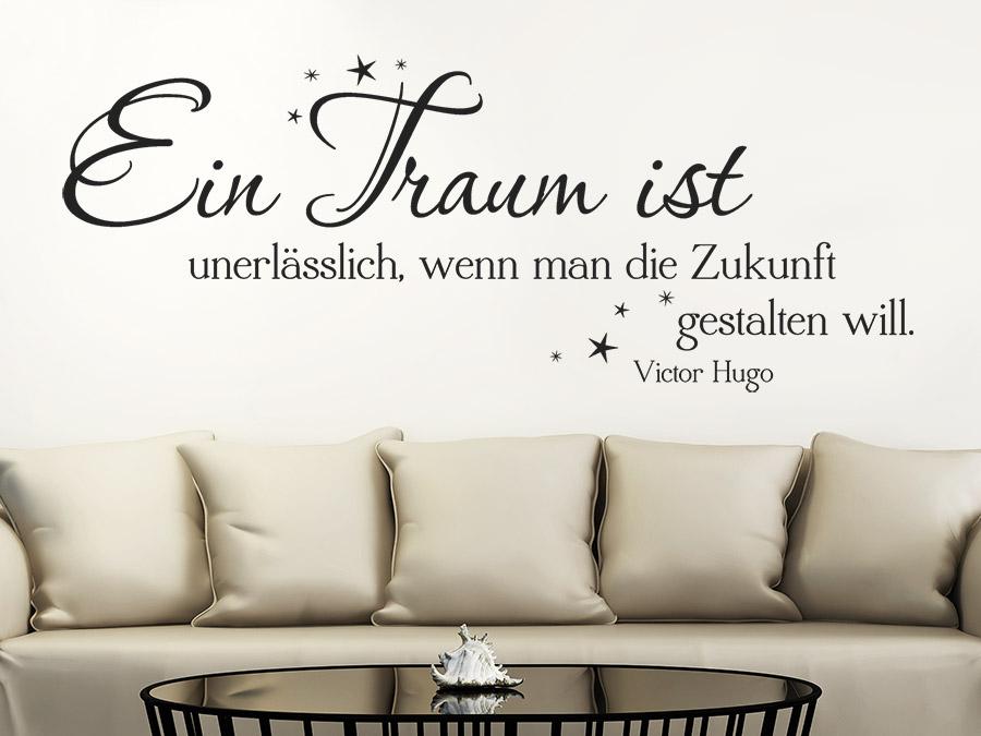 Zitat Im Schlafzimmer Zitat Wandtattoo Ein Traum Ist... über Der Couch