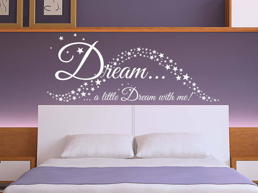 Wandtattoo dream a little dream with me wandtattoo de for Jugendzimmer englisch