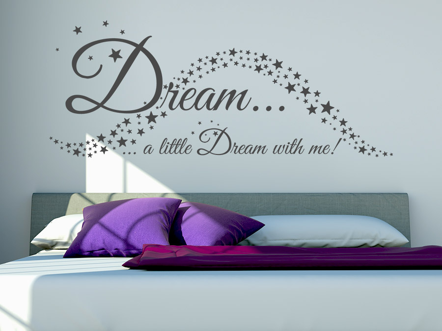wandtattoo dream with me bei. Black Bedroom Furniture Sets. Home Design Ideas