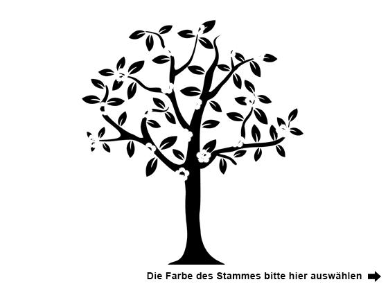 Awesome Farbe Auswählen Für Wandtattoo Baum Mit Blüten Und Vögeln
