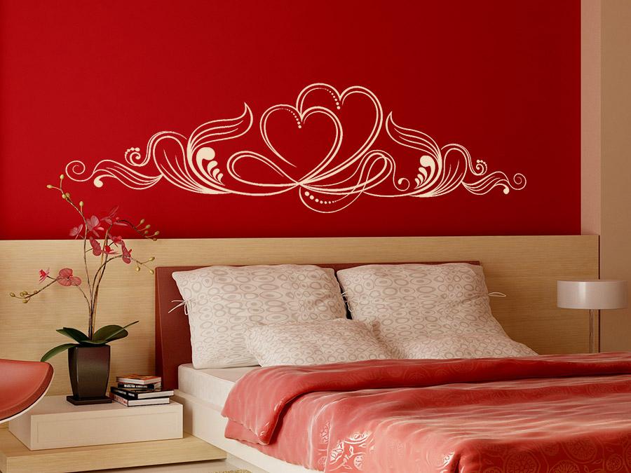 wandtattoo ornament mit herzen wandtattoo de. Black Bedroom Furniture Sets. Home Design Ideas