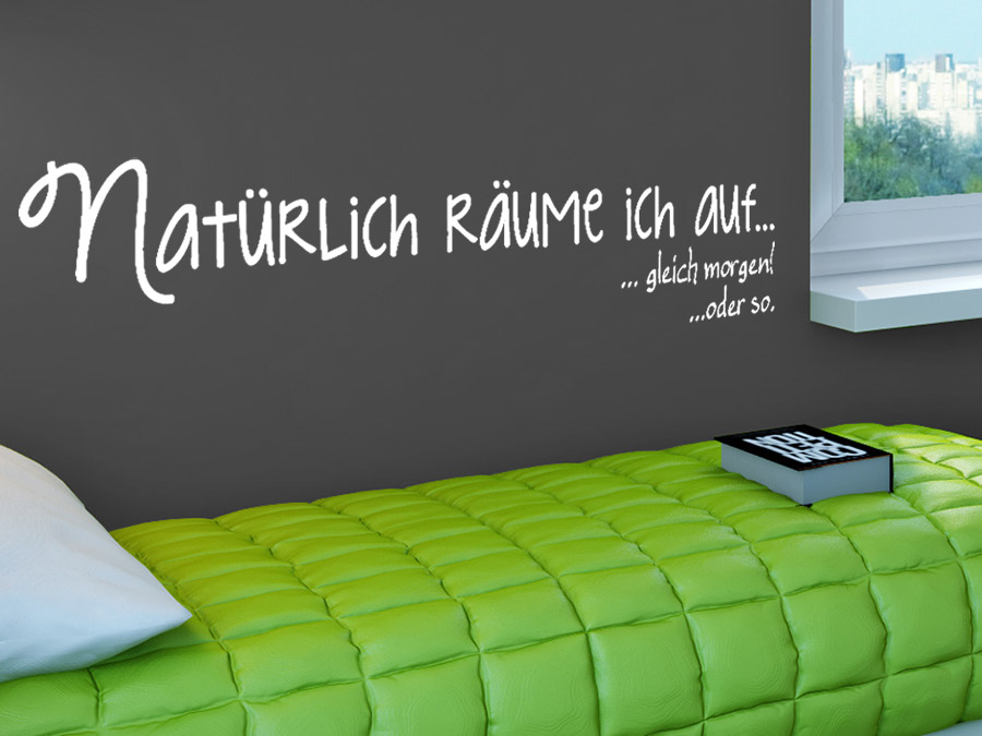 wandtattoo nat rlich r ume ich auf sprichwort von. Black Bedroom Furniture Sets. Home Design Ideas