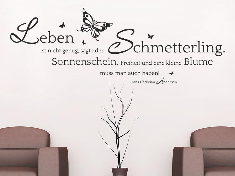sprüche mit schmetterlingen Wandtattoo Der Schmetterling und die Blume Zitat | WANDTATTOO.DE sprüche mit schmetterlingen