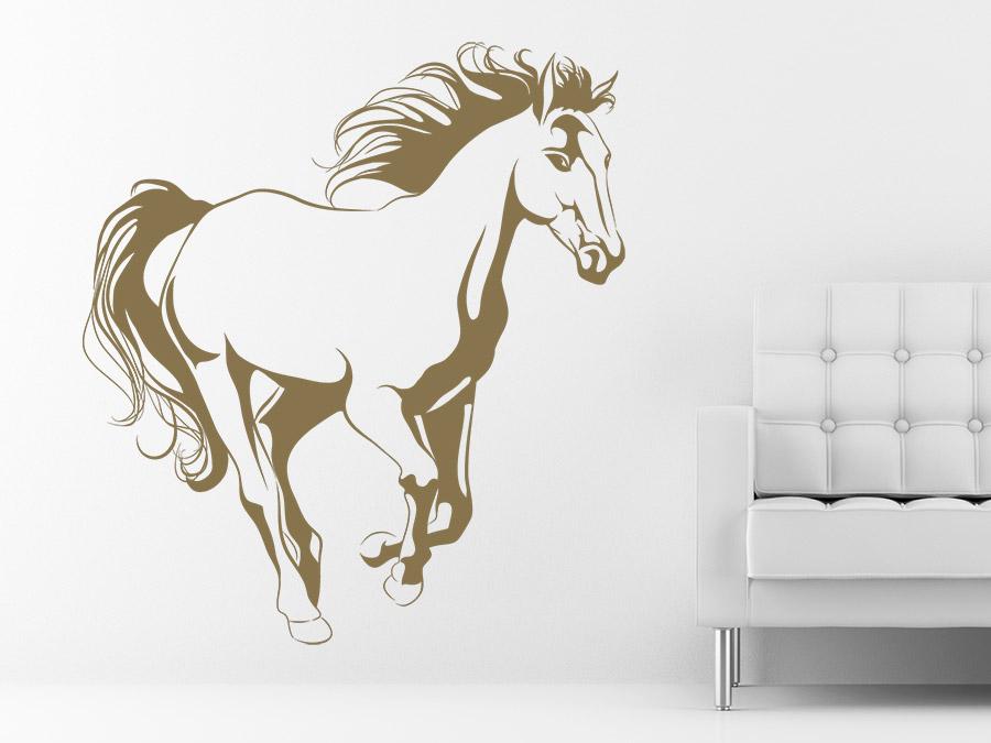 Wandtattoo wildes pferd mit wehender m hne wandtattoo de - Wandtattoo pferd kinderzimmer ...