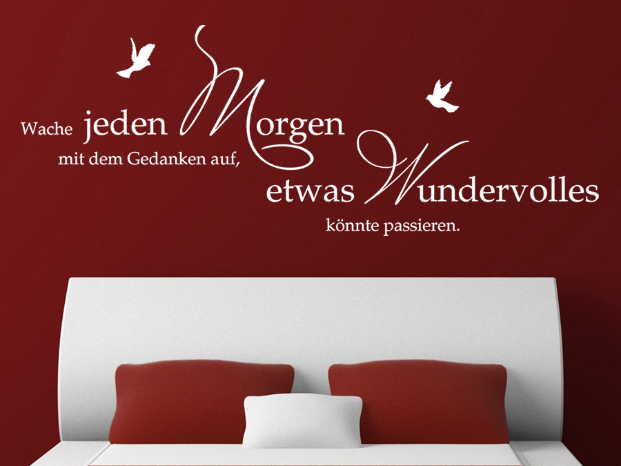 wandtattoo jeden morgen spruch von. Black Bedroom Furniture Sets. Home Design Ideas