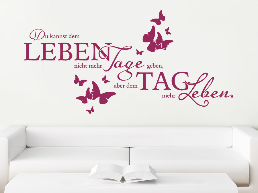 wandtattoo du kannst dem leben spruch von. Black Bedroom Furniture Sets. Home Design Ideas