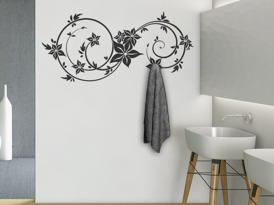wandtattoo garderobe ornament von. Black Bedroom Furniture Sets. Home Design Ideas