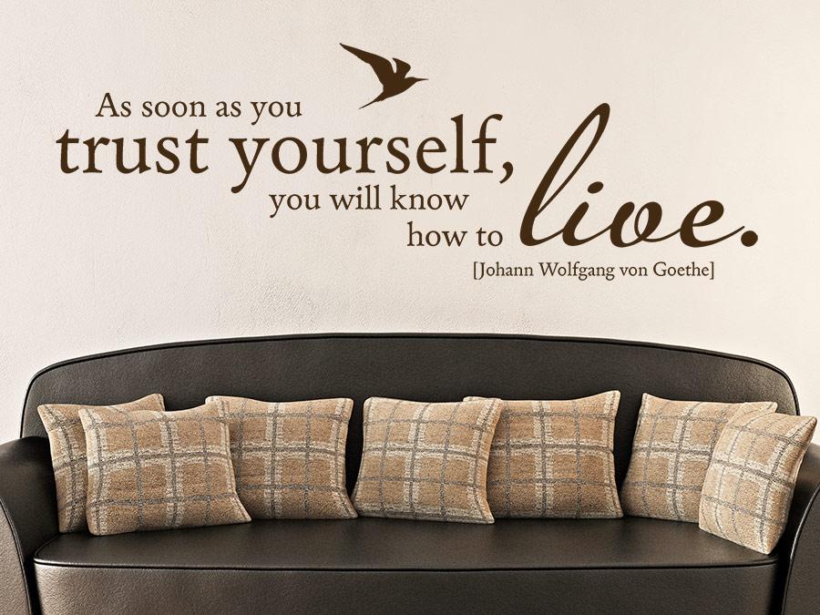 Wandtattoo Trust Yourself