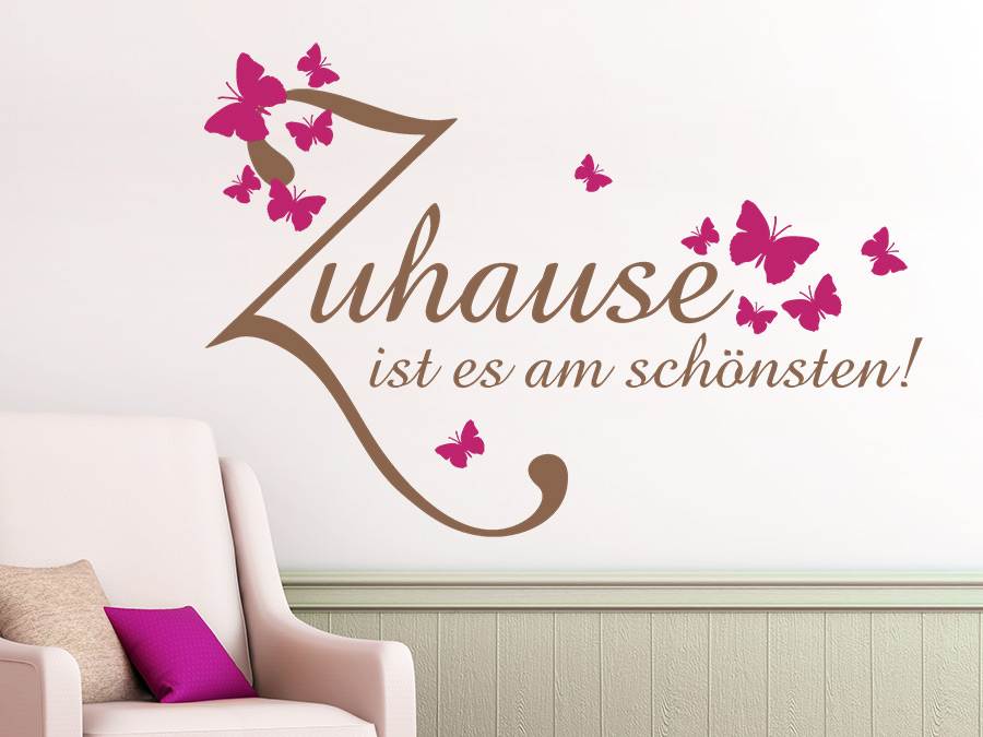 wandtattoo zuhause ist es am sch nsten bei. Black Bedroom Furniture Sets. Home Design Ideas