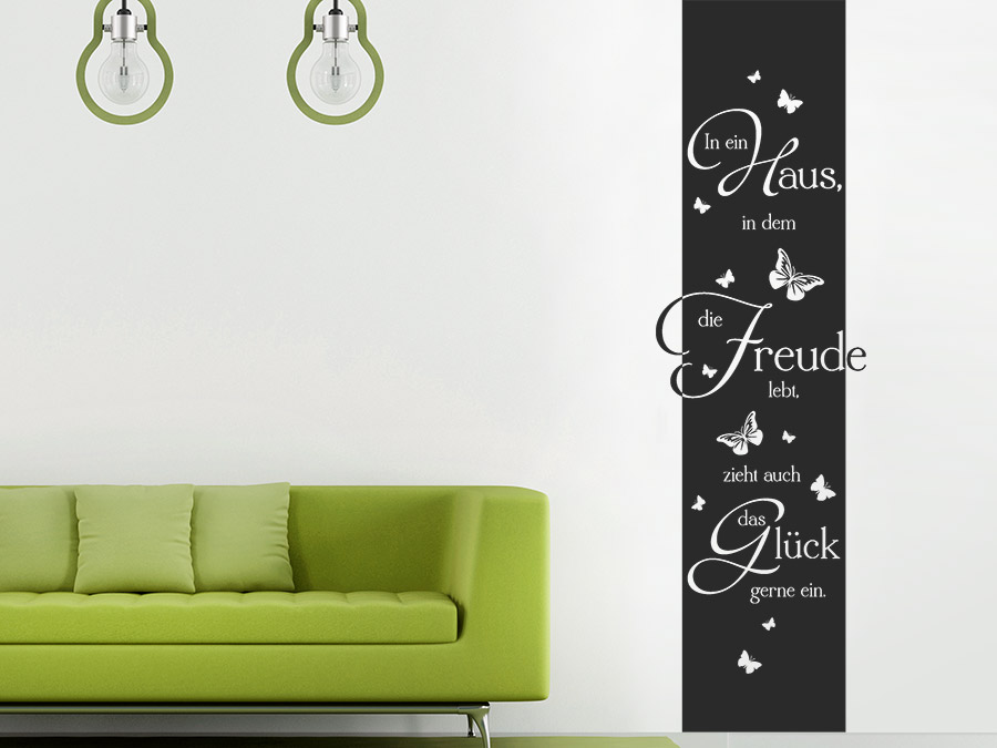 wandtattoo banner in ein haus wandbanner von. Black Bedroom Furniture Sets. Home Design Ideas