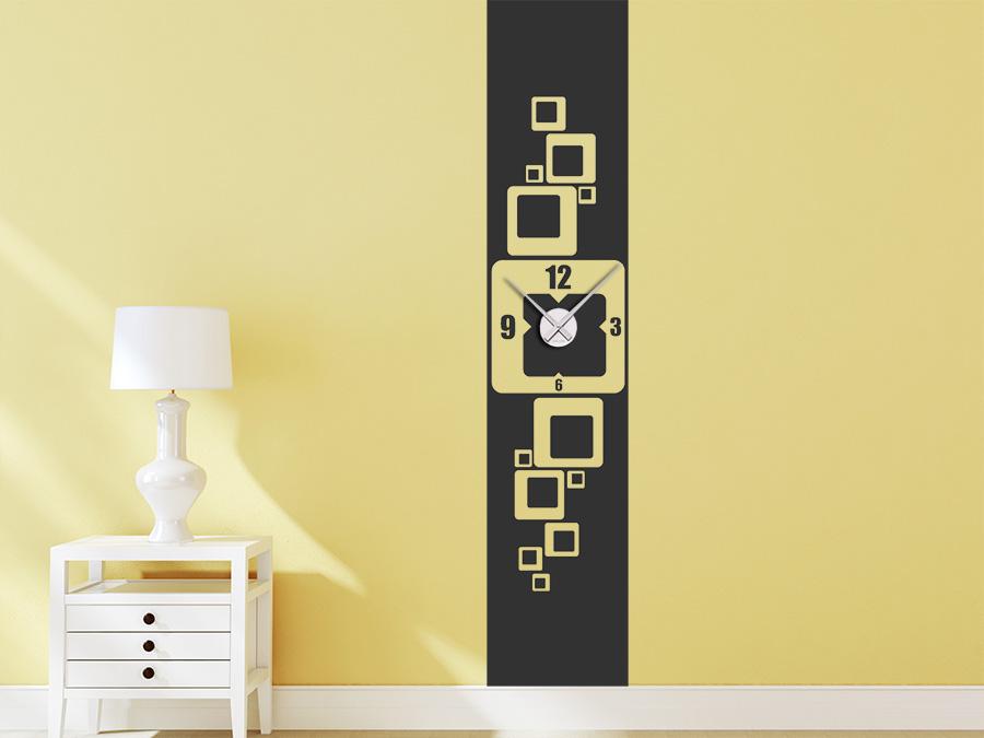 wandtattoo uhr banner retro wandbanner xxl wandtattoo de. Black Bedroom Furniture Sets. Home Design Ideas