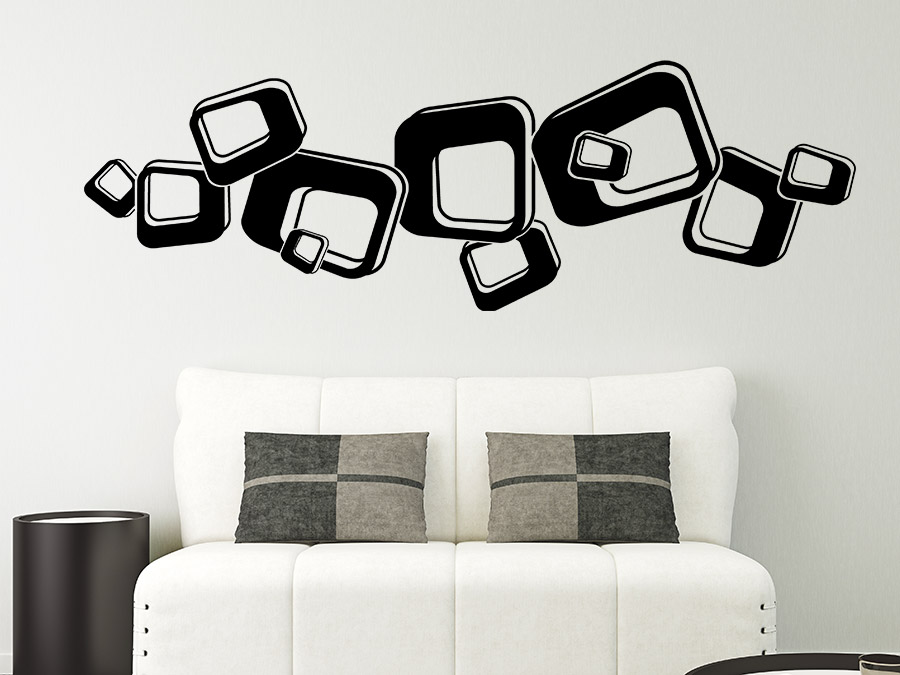 wandtattoo 3d retroornament wandtattoo de. Black Bedroom Furniture Sets. Home Design Ideas