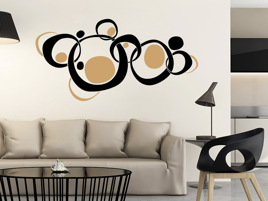 wandtattoo retroornament circles wandtattoo de. Black Bedroom Furniture Sets. Home Design Ideas