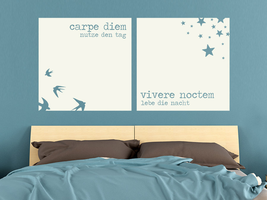 Wandtattoo Carpe diem - Vivere noctem von Wandtattoo.de