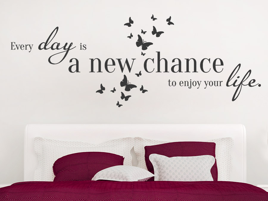 wandtattoo a new chance spruch von. Black Bedroom Furniture Sets. Home Design Ideas