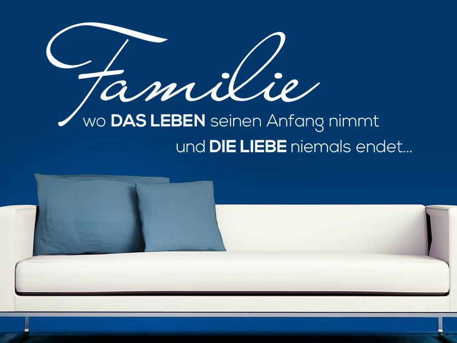 Wandtattoo familie spruch von for Lebensmotto englisch