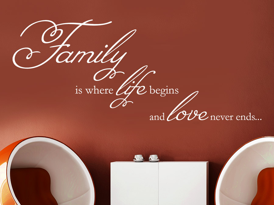 Wandtattoo family is where life begins von - Wandtattoo family ...