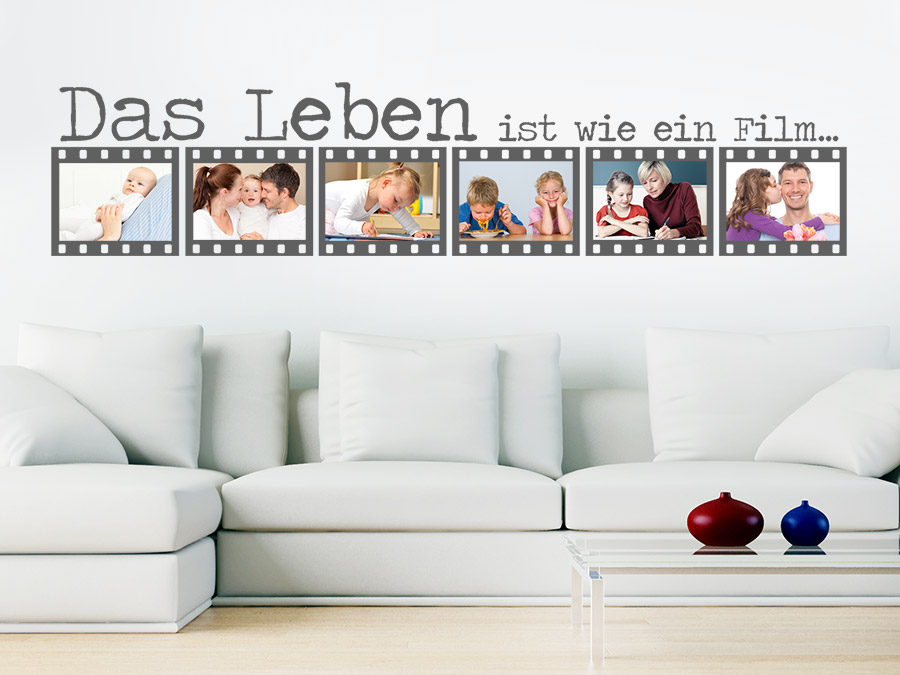 wandtattoo film fotorahmen das leben ist wie. Black Bedroom Furniture Sets. Home Design Ideas