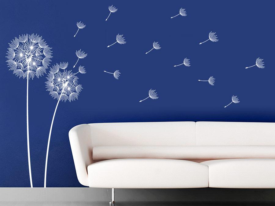 wandtattoo vom winde verwehte pusteblumen von. Black Bedroom Furniture Sets. Home Design Ideas