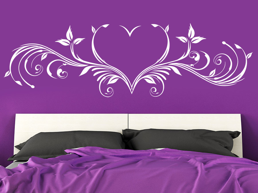 wandtattoo ornament mit herz wandtattoo de. Black Bedroom Furniture Sets. Home Design Ideas
