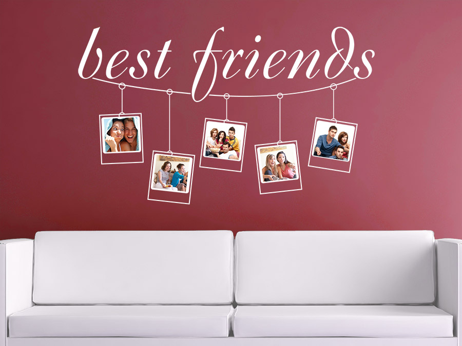 wandtattoo fotoleine best friends bei. Black Bedroom Furniture Sets. Home Design Ideas