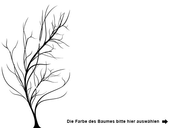 Wandtattoo Baum mit Blättern im Wind | WANDTATTOO.DE