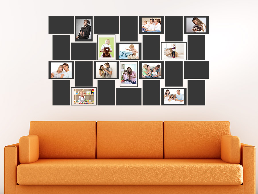 wandtattoo foto wall collage bei. Black Bedroom Furniture Sets. Home Design Ideas