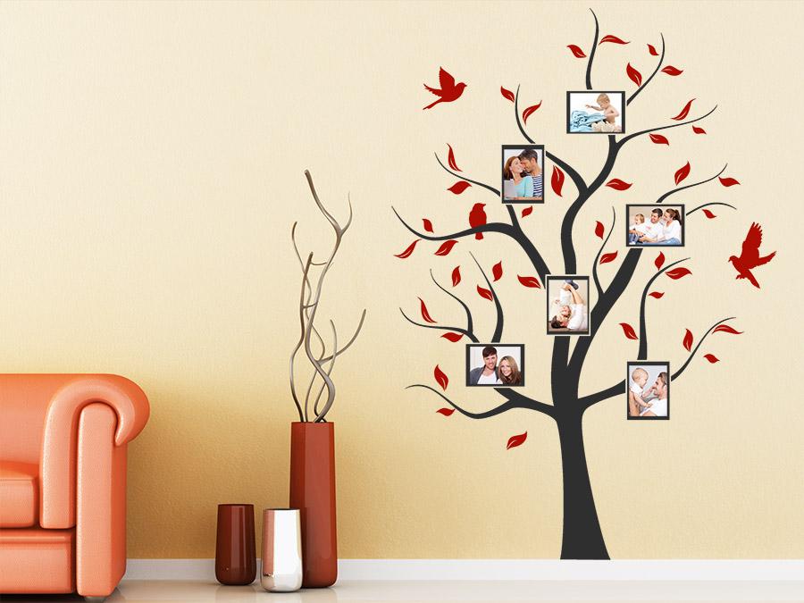 wandtattoo baum mit bilderrahmen von. Black Bedroom Furniture Sets. Home Design Ideas