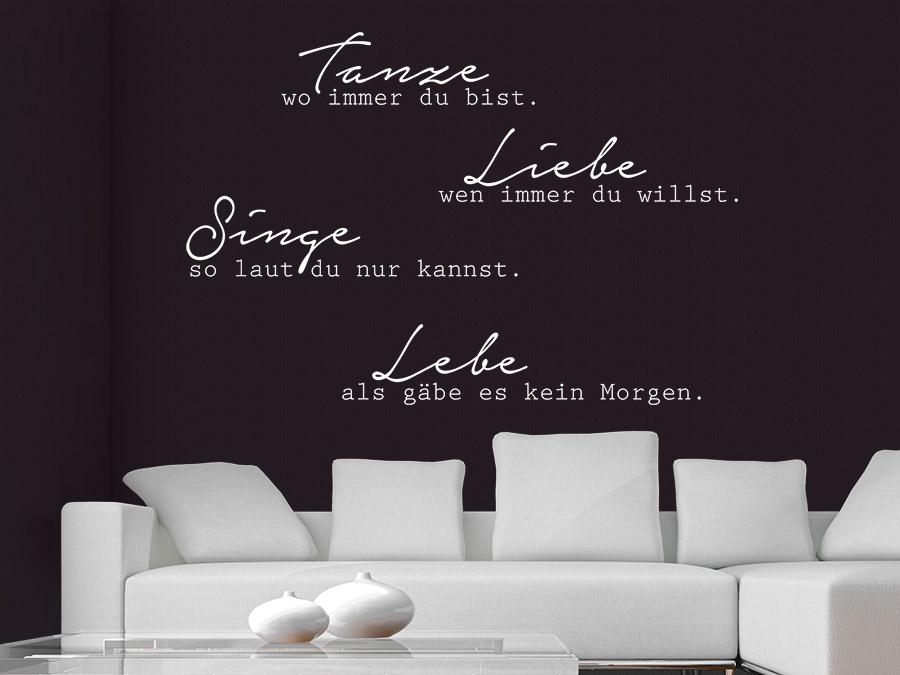 wandtattoo tanze wo immer du bist wandtattoo de. Black Bedroom Furniture Sets. Home Design Ideas
