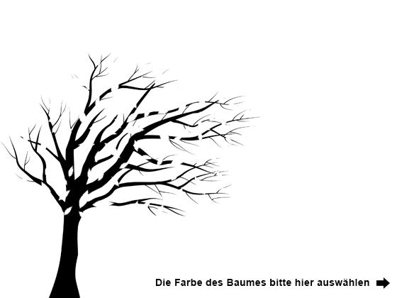 Farbe Auswählen Für Wandtattoo Baum Im Wind