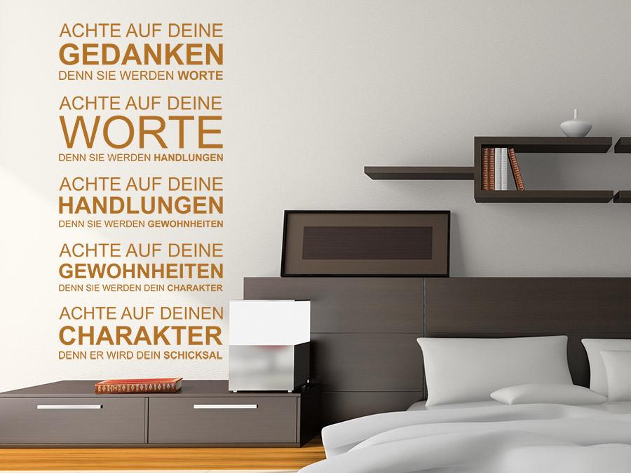 wandtattoo deine gedanken worte gewohnheiten wandtattoo de. Black Bedroom Furniture Sets. Home Design Ideas