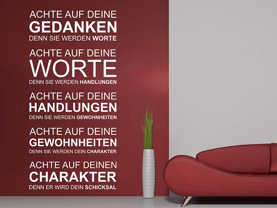 Wandtattoo Deine Gedanken von Wandtattoo.de