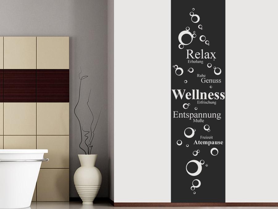 wandtattoo banner wellness relax bei. Black Bedroom Furniture Sets. Home Design Ideas