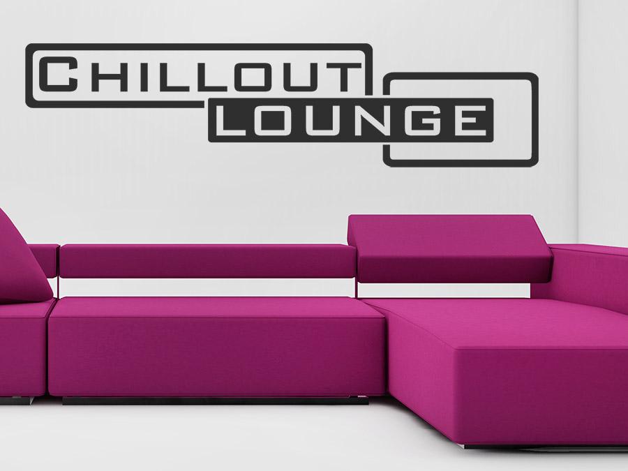 Wandtattoo Chillout Lounge