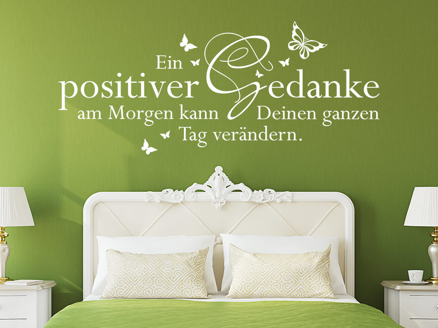wandtattoo ein positiver gedanke am morgen wandtattoo de. Black Bedroom Furniture Sets. Home Design Ideas