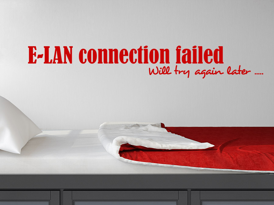 Wandtattoo E-LAN connection failed | WANDTATTOO.DE