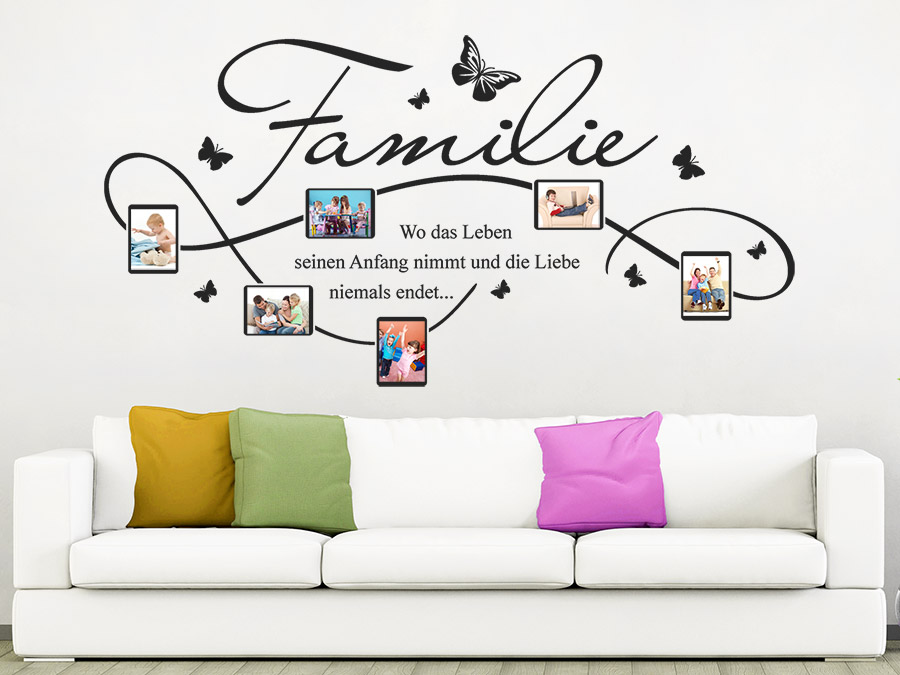 wandtattoo bilderrahmen familie f r fotos wandtattoo de. Black Bedroom Furniture Sets. Home Design Ideas