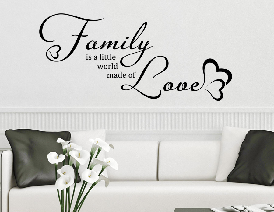 Wandtattoo Family is a little world made of love | WANDTATTOO.DE