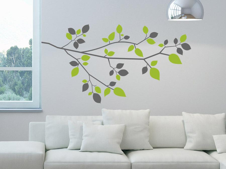 wandtattoo zweifarbiger ast wandtattoo de. Black Bedroom Furniture Sets. Home Design Ideas