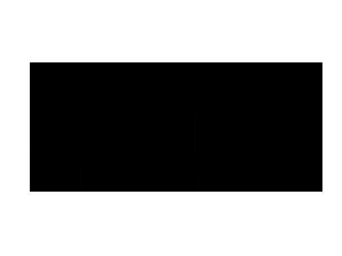 Ansicht Blütenornament zweifarbig als Wandtattoo