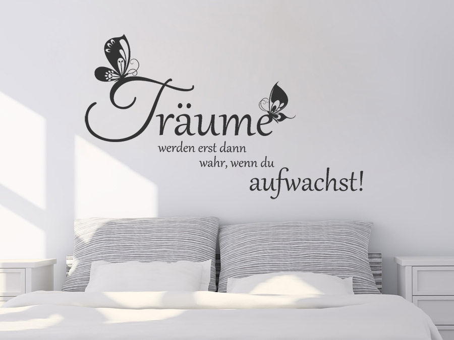 wandtattoo tr ume werden wahr spruch von. Black Bedroom Furniture Sets. Home Design Ideas