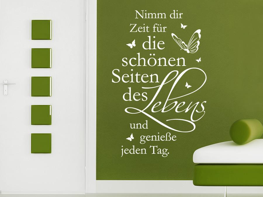 09b79025f08b1c Wandtattoo Zeit für die schönen Seiten bei homesticker.de