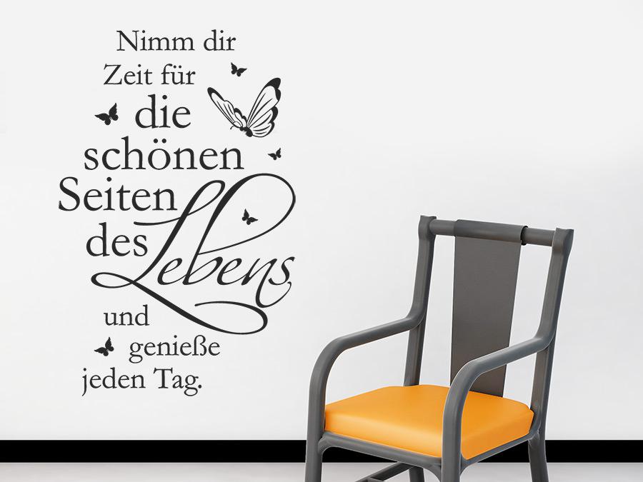 7edb229a63da09 Sprichwort Wandtattoo Die schönen Seiten als dekorative Wandgestaltungsidee